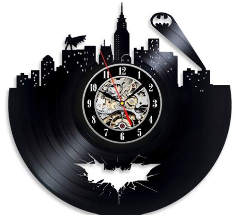 The Batman Clock Gives You Cool Credentials by Batman Vinyl Wall Clock Greatest Stuff On Earth