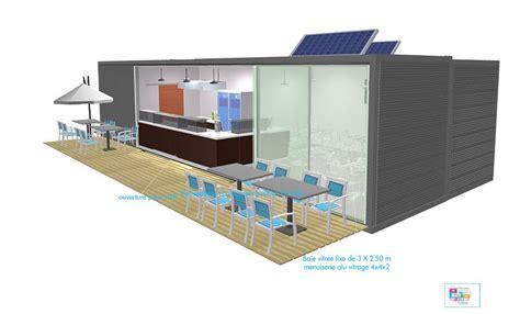 House Shop Plans by Studio De Jardin Am 233 Nagement Container Extension Maison