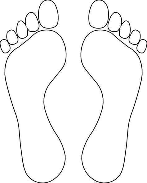 footprint outline colouring pages