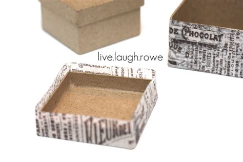 How To Make A Paper Mache Box - paper mache washi live laugh rowe