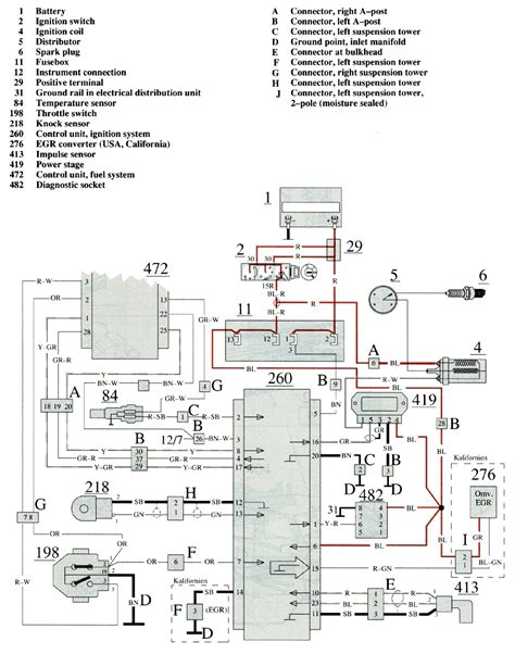 volvo 740 1989 wiring diagrams