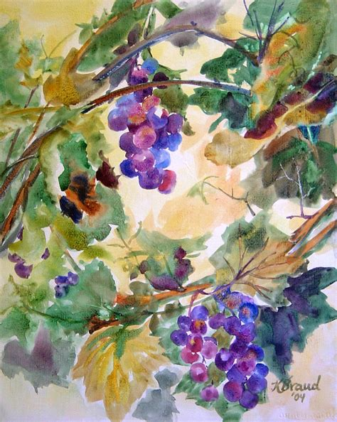 the gallery for gt grape vine paintings