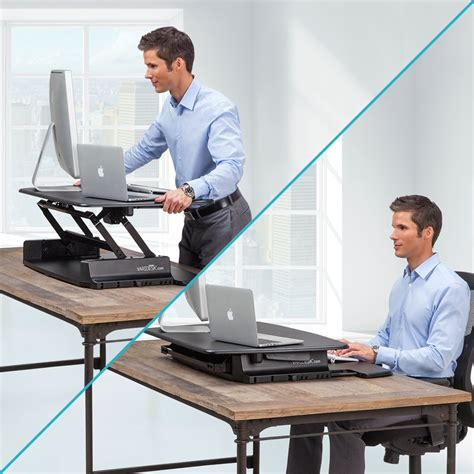adjustable standing desk amazon amazon com varidesk pro 36 height adjustable black