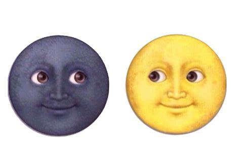 iphone emoji moon faces emoji overlay tumblr