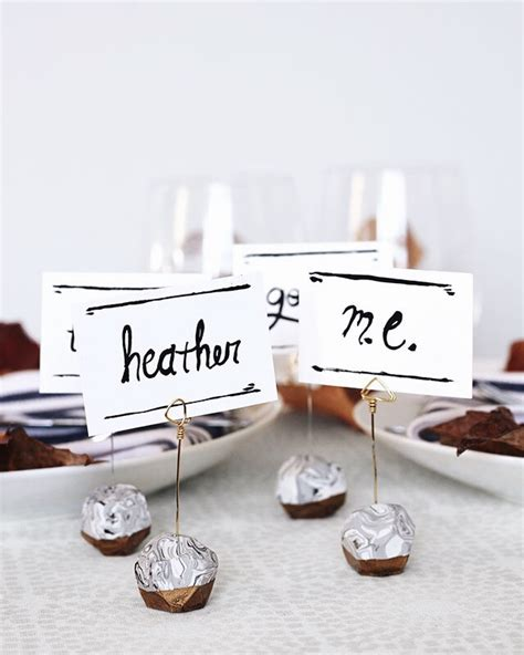 make place card holders we can make anything diy place card holders