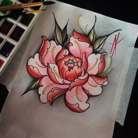 peony rose tattoo designs flowers japan design japanese peony asian