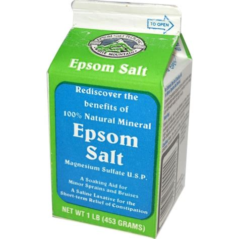 Epsom Detox For A Laxative by Epsom Salts Magnesium Sulfate U S P Saline Laxative