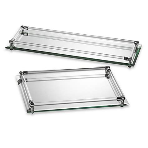 mirrored bathroom tray mirror vanity trays bed bath beyond