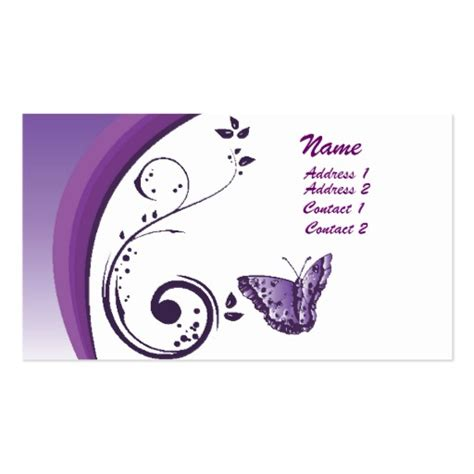 butterfly business card template purple butterfly business card zazzle