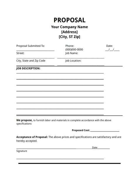 proposals templates template free create edit fill and print