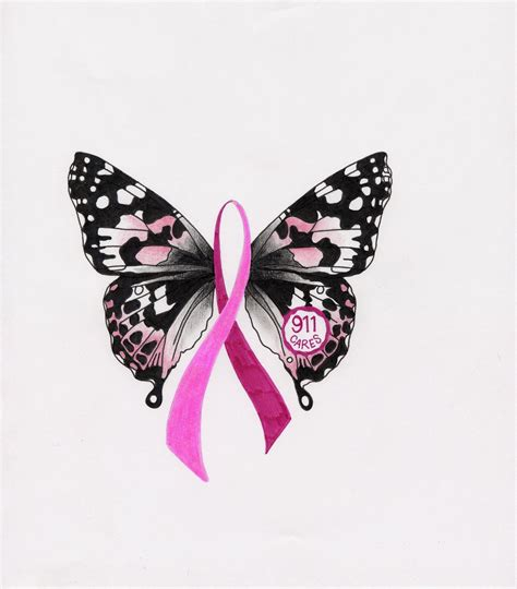 breast cancer butterfly tattoo misha s blue breast cancer awareness