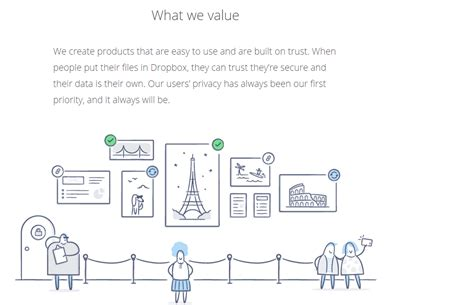 dropbox values what are the core values of your freelance business