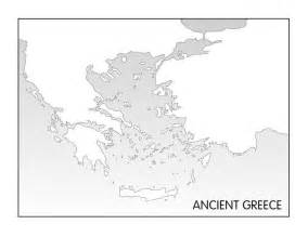 Ancient Greece Blank Map ancient greece printable blank map homeschooling