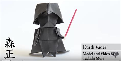 Origami Darth Vader - how to make an origami darth vader designtaxi