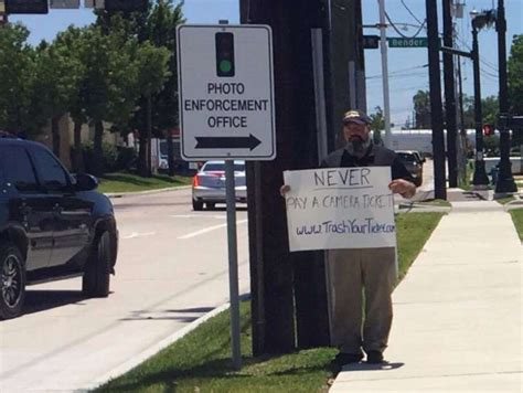 fight red light camera ticket humble man continues fight to eliminate red light cameras