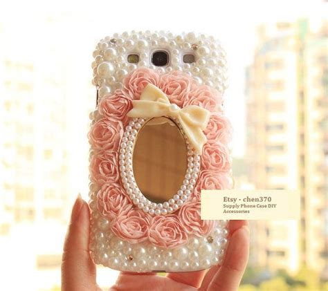 Tassel Bowknot Deco lace pearl bowknot mirror diy phone deco den kit