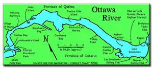 ottawa river canada map ottawa river map