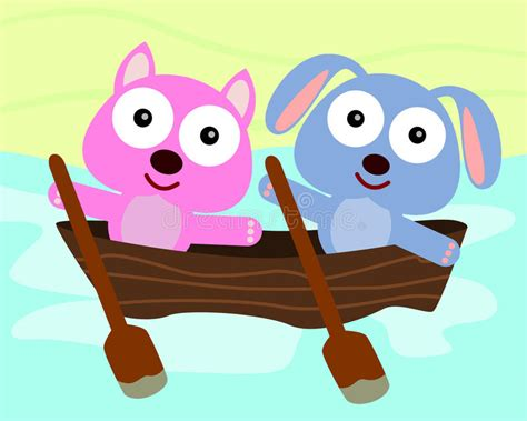 boat dog cartoon animal boat ride stock illustration image of water