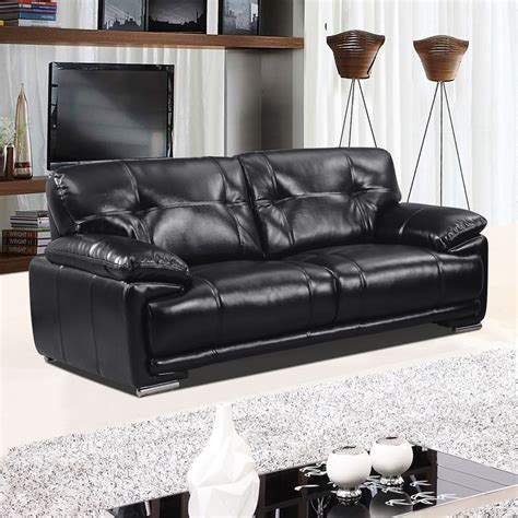 leathaire sofa links leathaire 100 real leather alternative black fabric