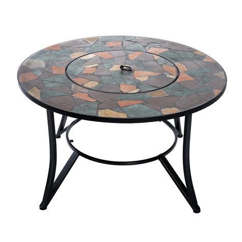 clearance patio table outsunny 36 outdoor backyard patio firepit table