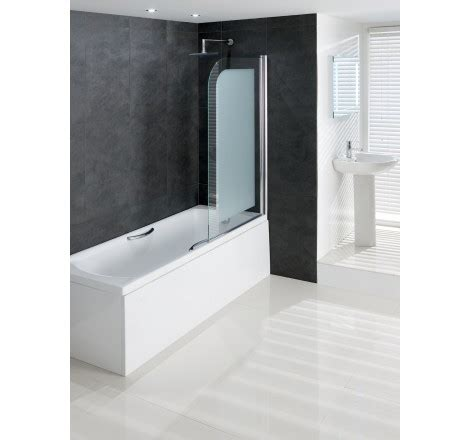 frosted shower screens bath volente 8mm frosted hinge bath shower screen easy clean