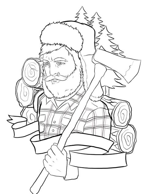 tattoo outline designs free lumberjack outline by ziuuziuu on deviantart
