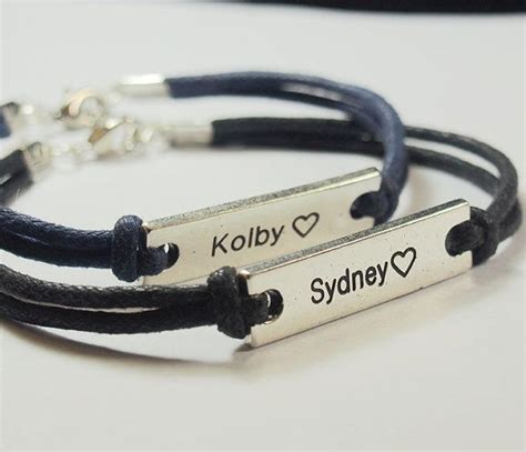 set2 couples bracelet custom matching bracelet navy