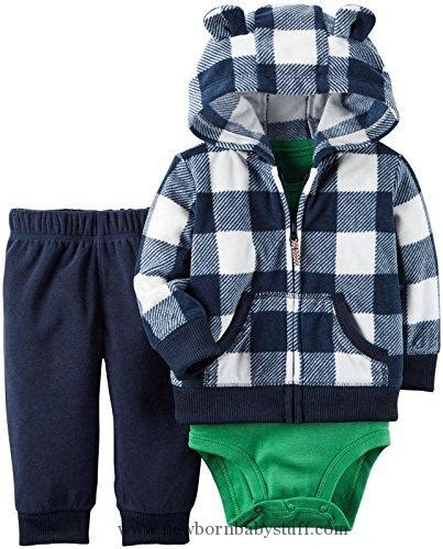 carters 3 piece baby boy plaid short baby boy clothes carter s baby boys 3 piece short sleeve