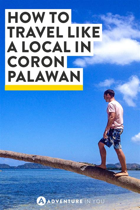 how to travel like a local in coron palawan