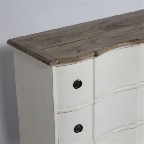 Bufet Indiana 1 5 Meter commode vintage blanche 160cm 6 tiroirs made in meubles