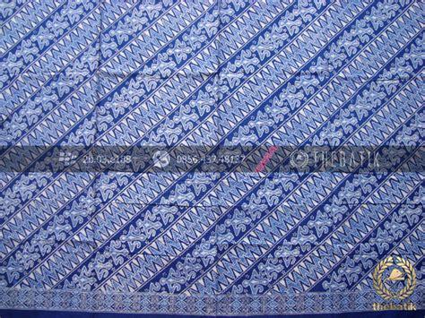 Blouse Atasan Baju Seragam Batik Wanita 1580 Daun Big Size jual kain bahan baju batik pekalongan motif zigzag biru