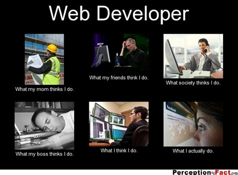 Web Memes - web developer what people think i do what i really