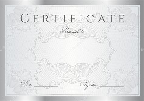 official certificate template official certificate template certificate stock photo