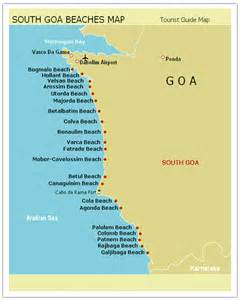 beaches in map map of goa beaches search engine at search