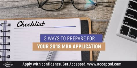 Prepare To Start Mba by 3 Ways To Prepare For Your 2018 Mba Application The Gmat