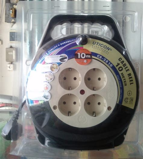 Rol Kabel Uticon 10 Meter Cr2810 jual uticon kabel roll gulungan listrik 10 meter cr2810 10 m cable rell with arde pe