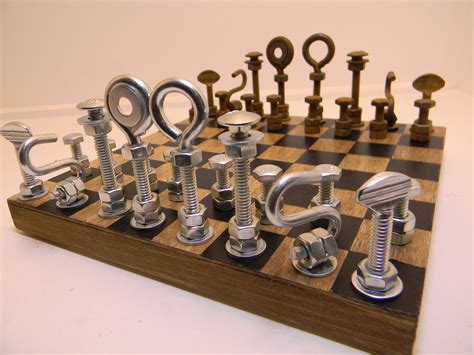 Unusual Chess Sets by Hardware Chess Set