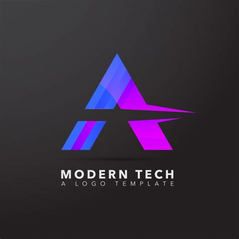 Modern Tech Logo Template Vector Premium Download Modern Logo Template