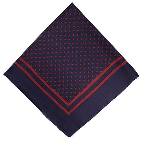lucky sunday rawis square navy navy blue spot handkerchief square extras