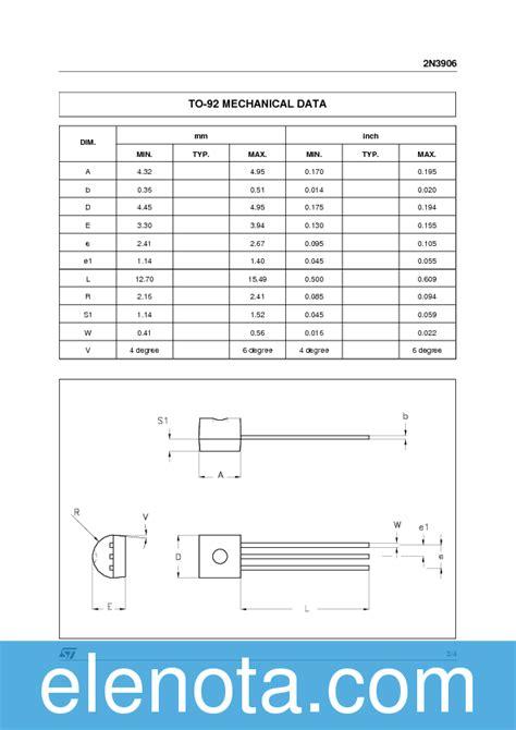 2n3906 transistor datasheet pdf 2n3906 datasheet pdf 39 kb stmicroelectronics pobierz z elenota pl
