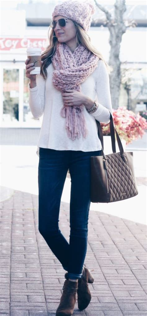 Sad Lace Sweater Top 21536 lace up back white sweater with pink hat and scarf pinteresting plans
