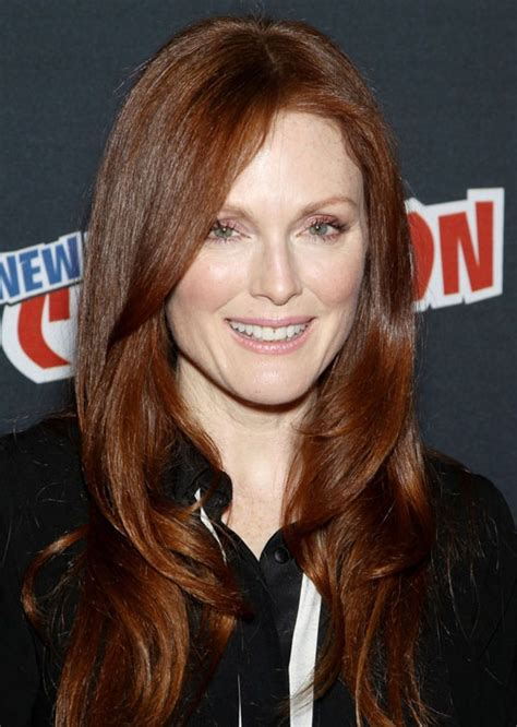 julianne moore hair care julianne moore at ny comic con 10 13 2012 hair by renato