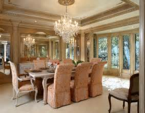 Dining Room In French by Formal French Chateau