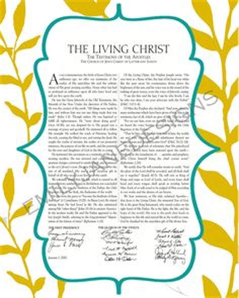 lds the living christ the testimony of the apostles the living christ the testimony of the apostles modern