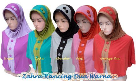 Kimono Instan Jersey Instan Murah Cantik jilbab instan zahra kancing dua warna toko jilbab