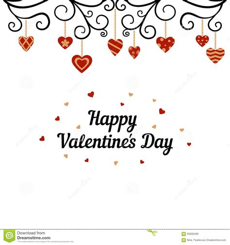 happy valentines cards happy valentines day card stock photo image 65830490