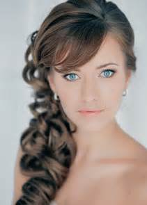 curly side hair wedding side hairstyles for long hair