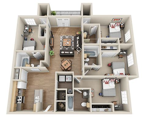 3 and 4 bedroom apartments ucribs