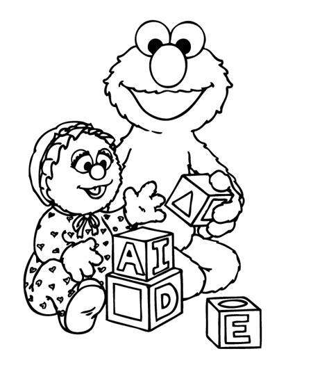 free coloring pages of elmo elmo