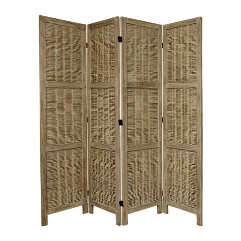lowes room dividers shop furniture room dividers 4 panel burnt gray folding indoor privacy screen at lowes